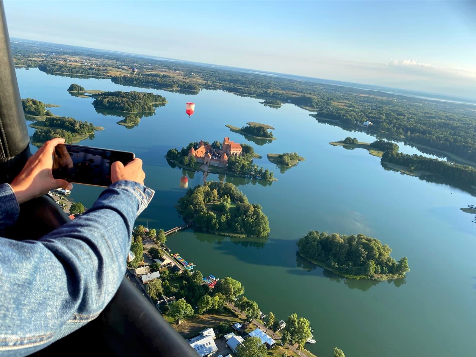 Perfect shot of Trakai Lake Castle